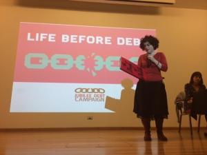Alinah and The Book@LifeBeforeDebt, SOAS, March 201